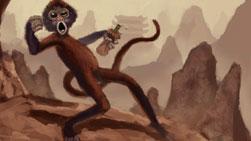 scimmie si ubriacano